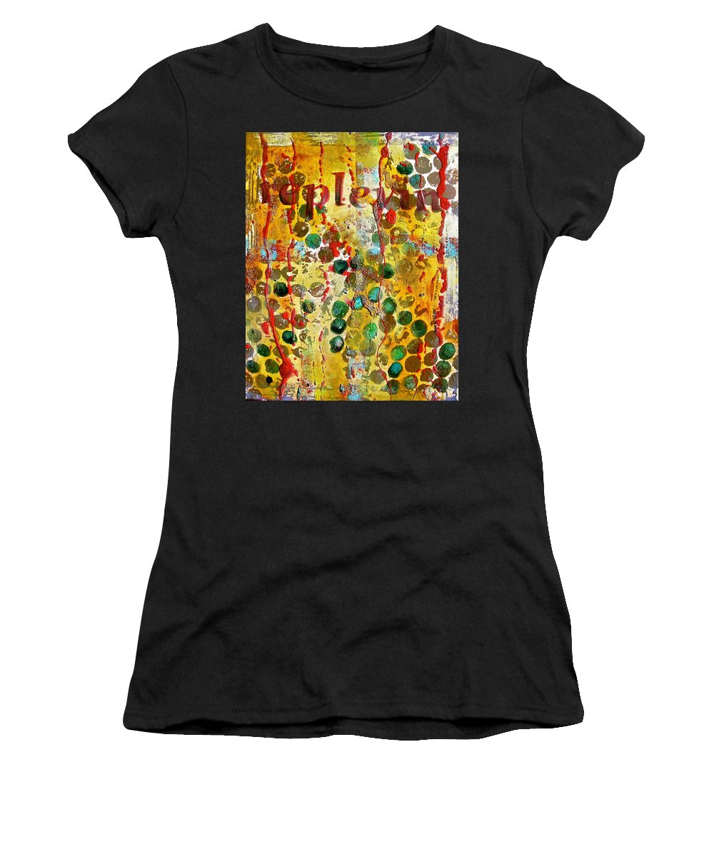 Abstract Art Women's T-Shirt (Athletic Fit) featuring the painting Replevin by Laura Pierre-Louis