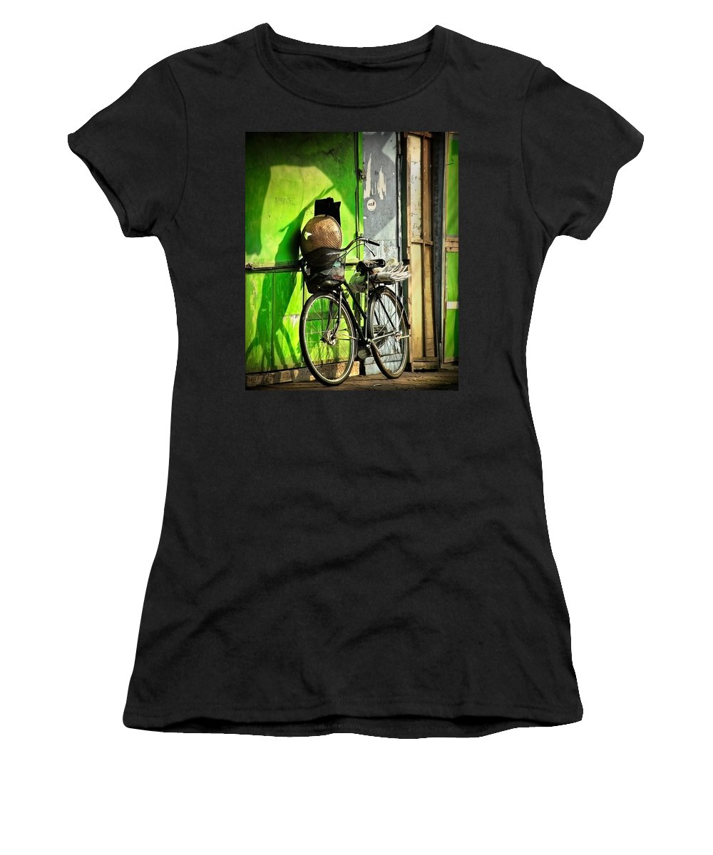 Women's T-Shirt featuring the photograph Resting by Charuhas Images