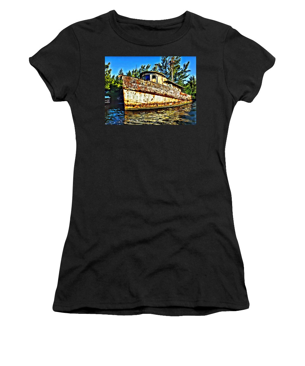Rusty Women's T-Shirt featuring the digital art Retired by Anthony C Chen