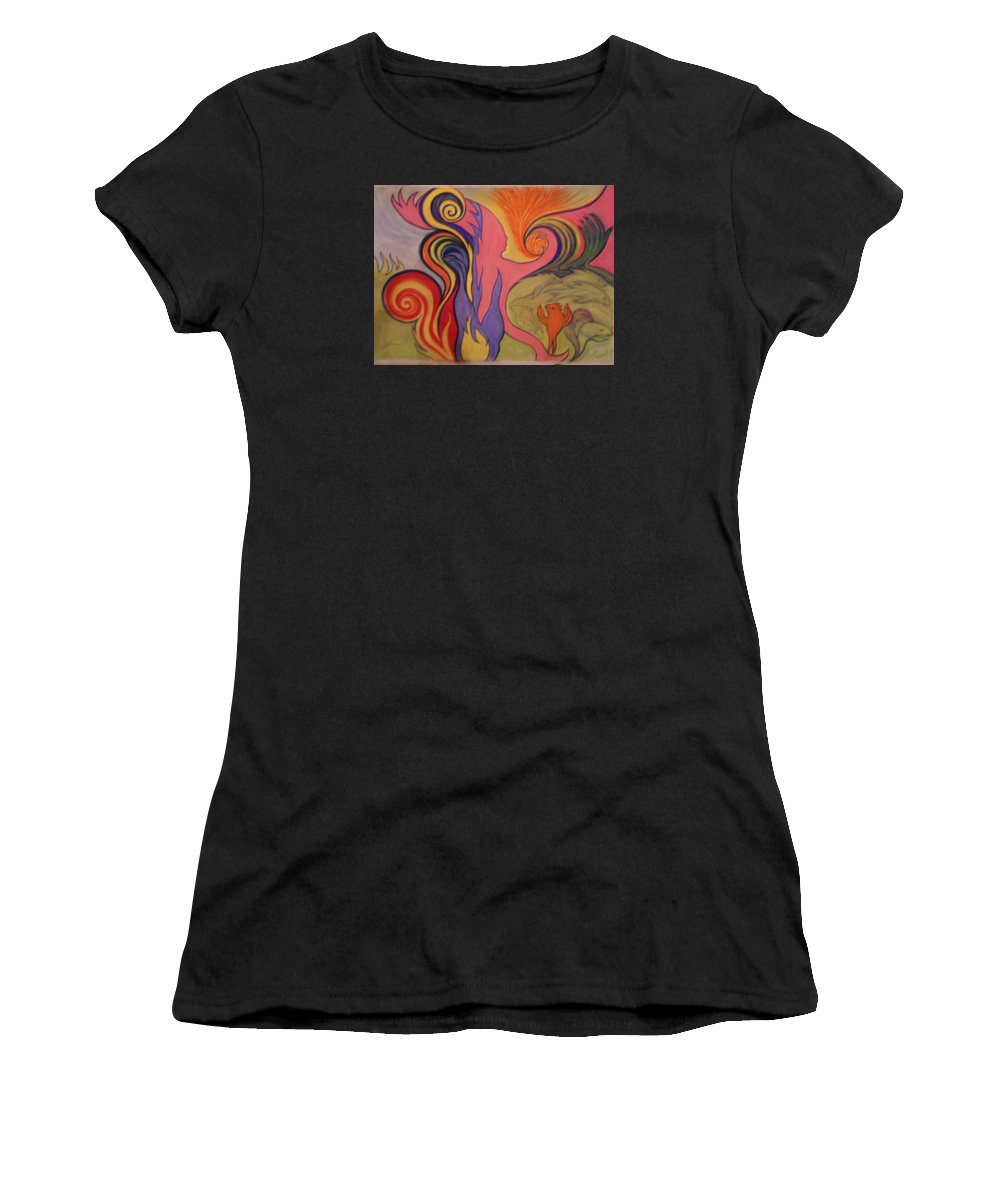 Surrealism Women's T-Shirt featuring the pastel Return To Santa Fe by James Welch