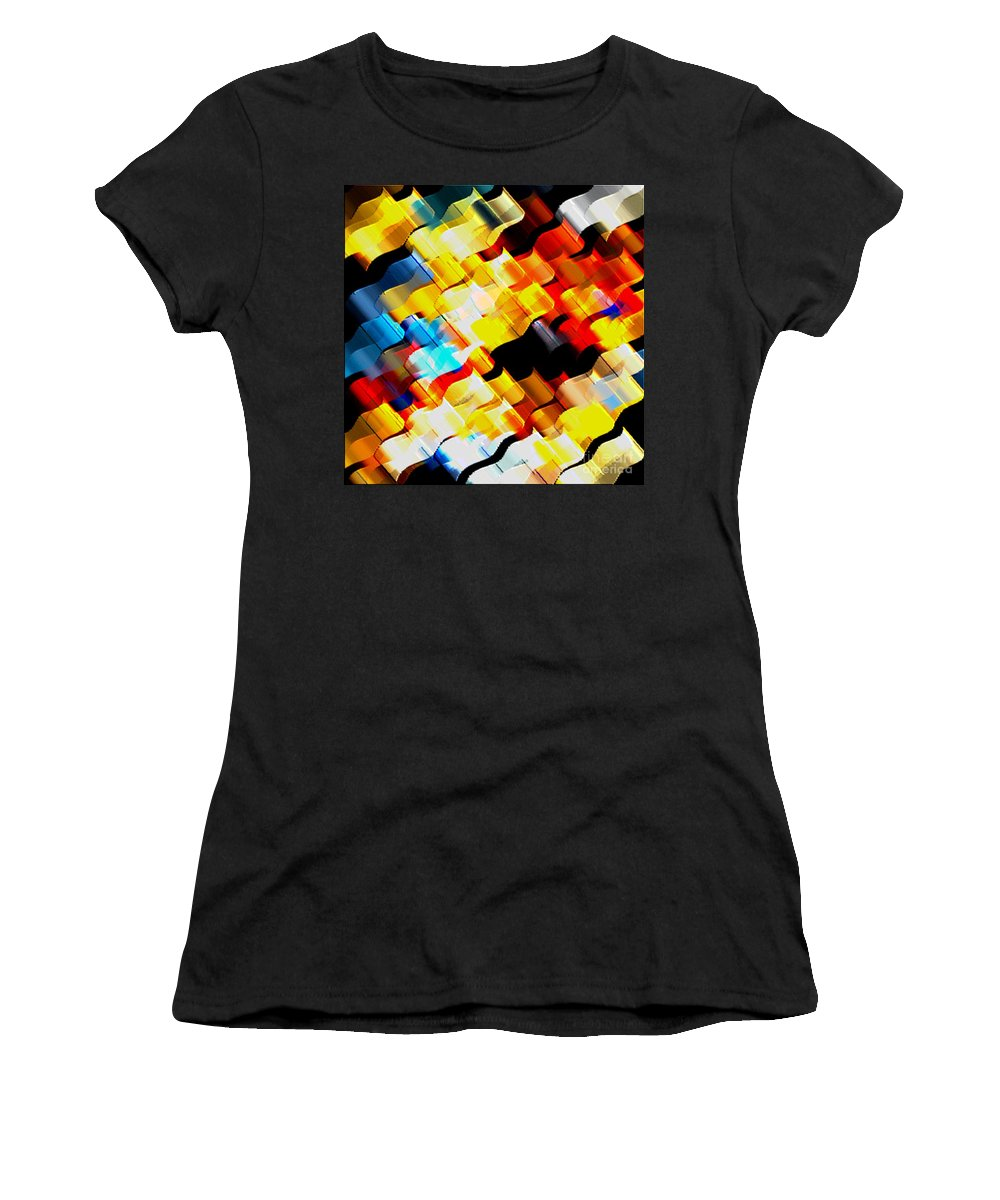 Robons Women's T-Shirt (Athletic Fit) featuring the digital art Ribons by Dragica Micki Fortuna