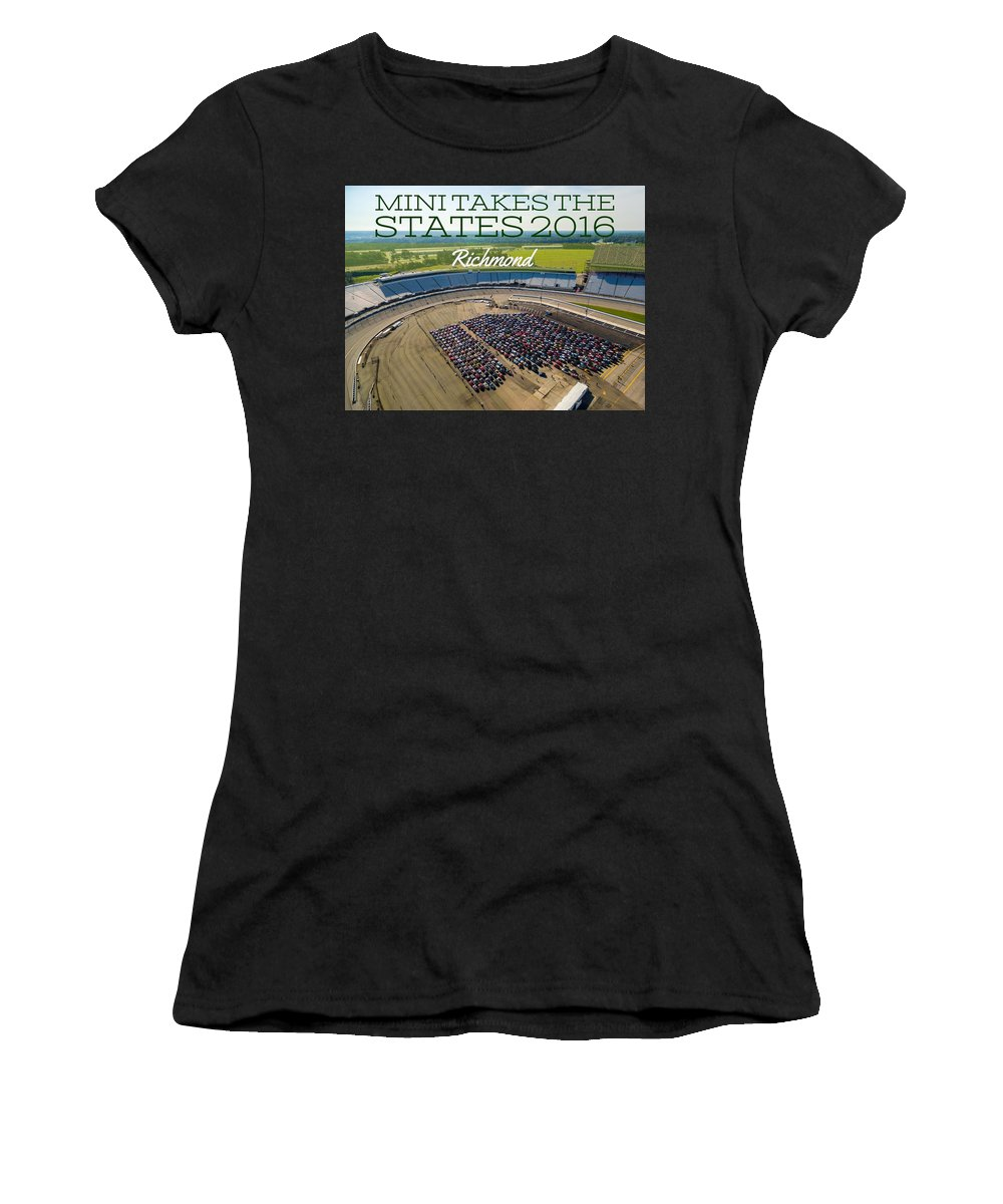 Mtts Women's T-Shirt (Athletic Fit) featuring the photograph Richmond Rise/shine W/text by That MINI Show