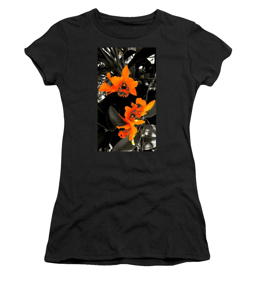 Chicago Botanic Garden Women's T-Shirt (Athletic Fit) featuring the photograph Richness In Sunshine by Tim G Ross