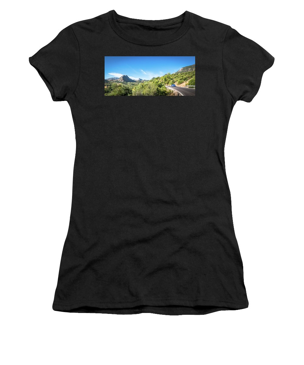 Andalucia Women's T-Shirt (Athletic Fit) featuring the photograph Riding The Roads Of Andalucia by Michael Thomas