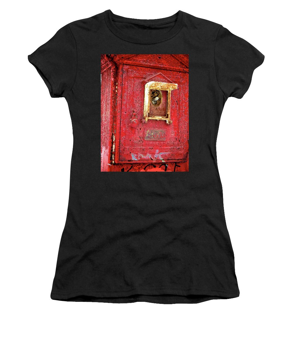 New England Women's T-Shirt (Athletic Fit) featuring the photograph Ring The Alarm by Shannon Turek