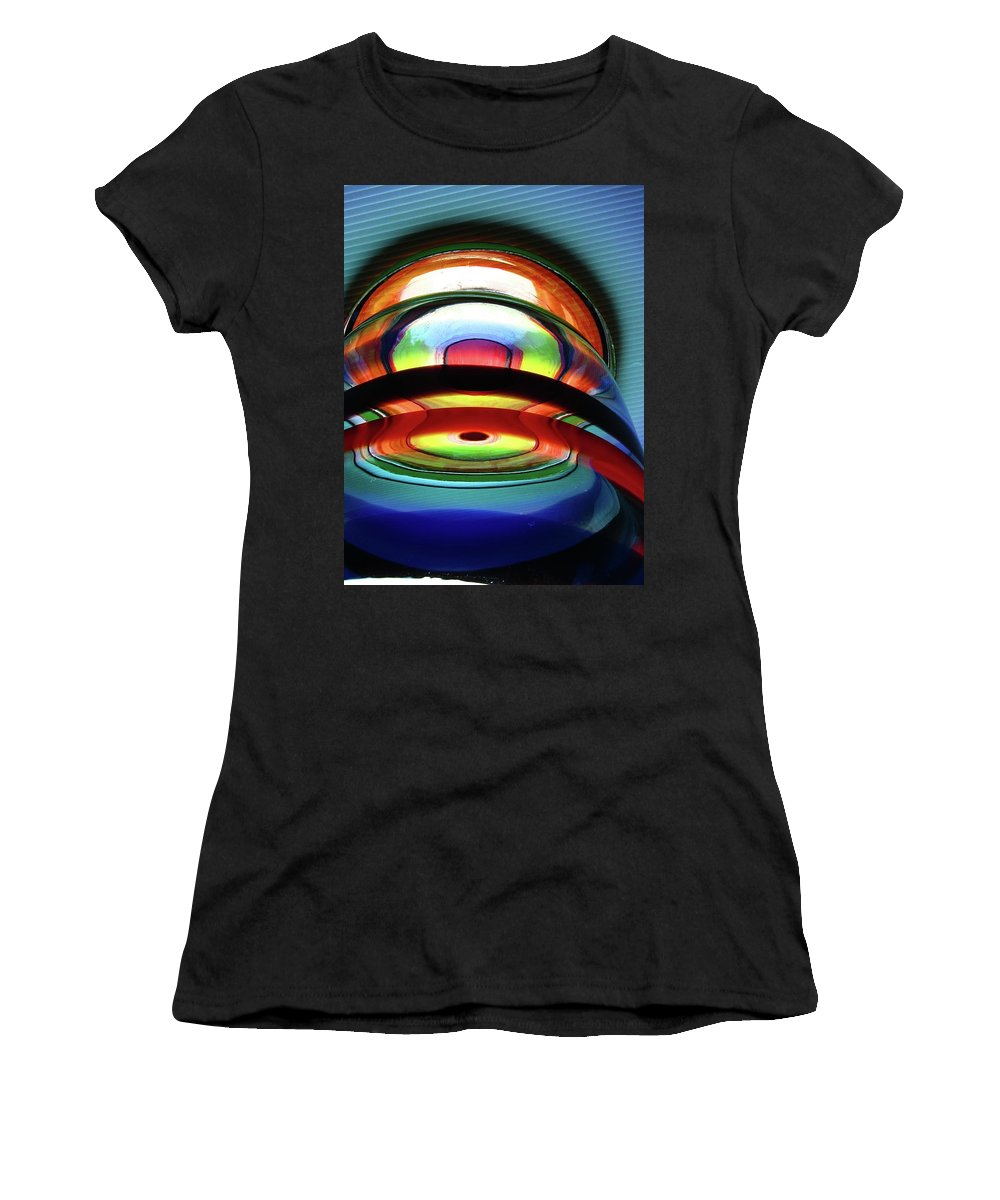 Abstract Women's T-Shirt (Athletic Fit) featuring the photograph Rings # 4 by Paolo Staccioli