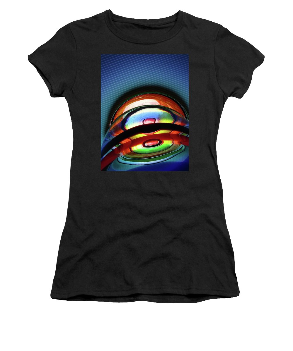 Abstract Women's T-Shirt (Athletic Fit) featuring the photograph Rings # 5 by Paolo Staccioli