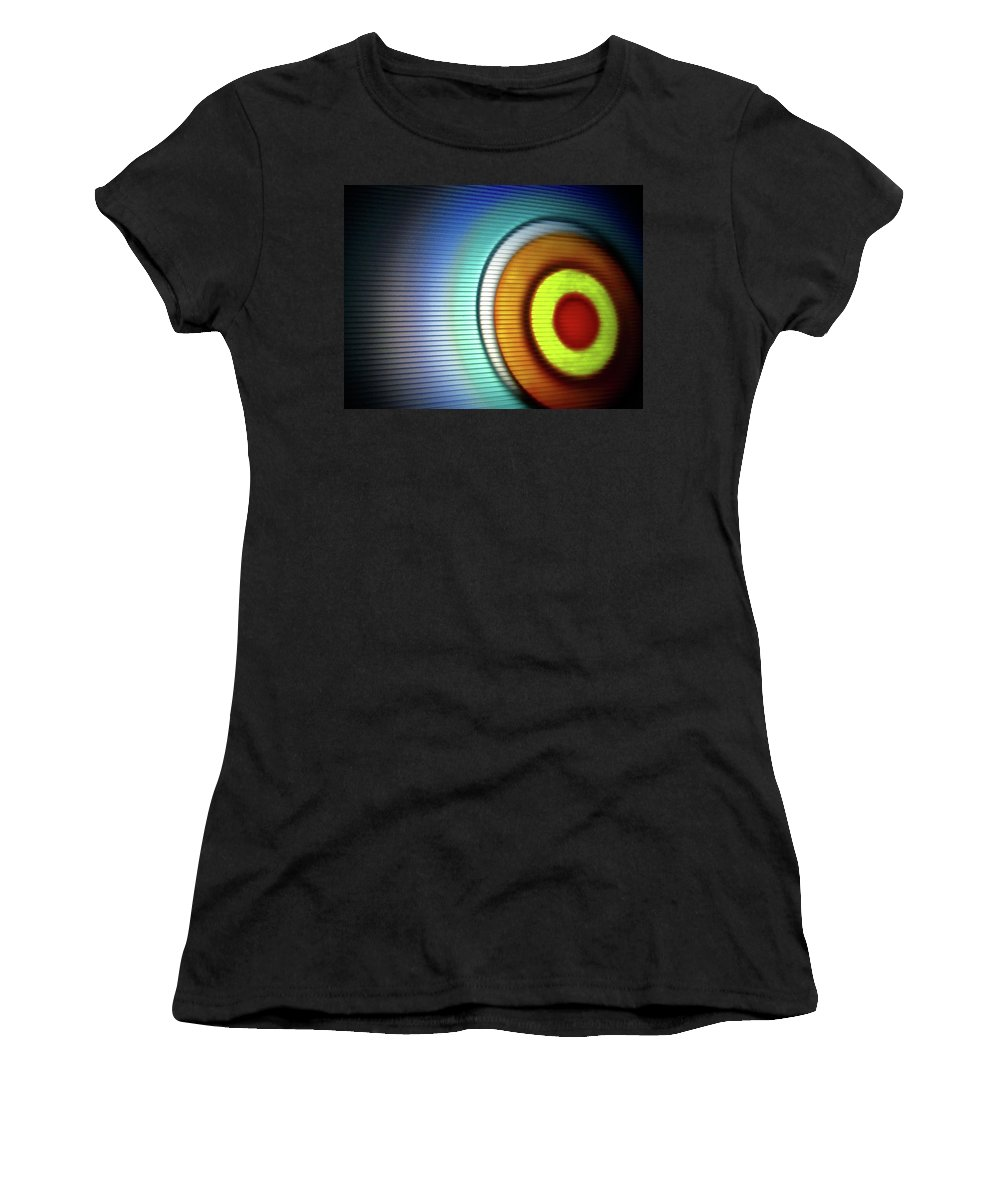Abstract Women's T-Shirt (Athletic Fit) featuring the photograph Eclipse-2 # 9 by Paolo Staccioli