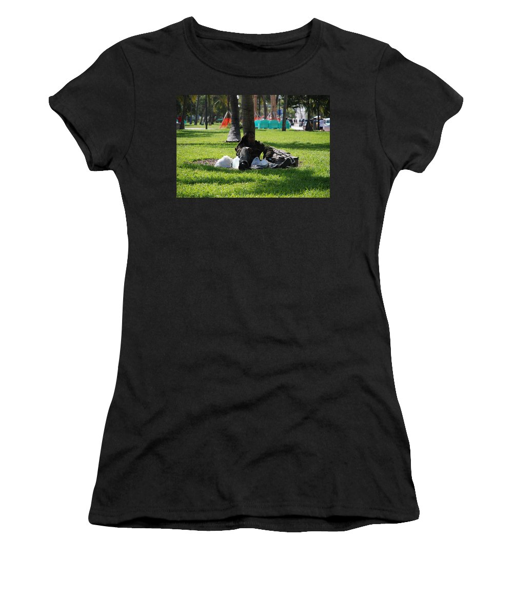Urban Women's T-Shirt (Athletic Fit) featuring the photograph Rip Van Winkle by Rob Hans