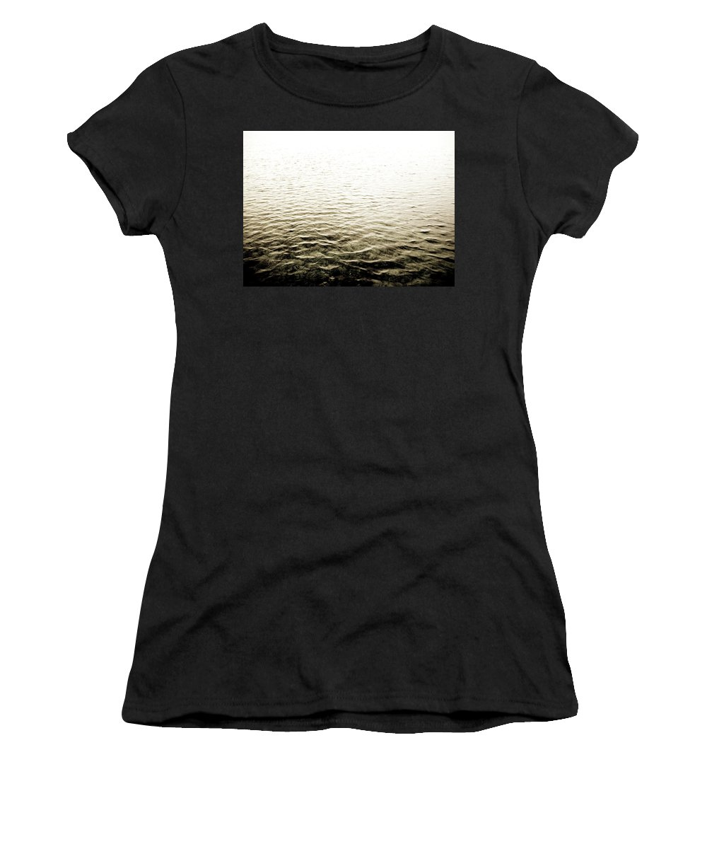 Beach Women's T-Shirt (Athletic Fit) featuring the photograph Ripples by Trance Blackman