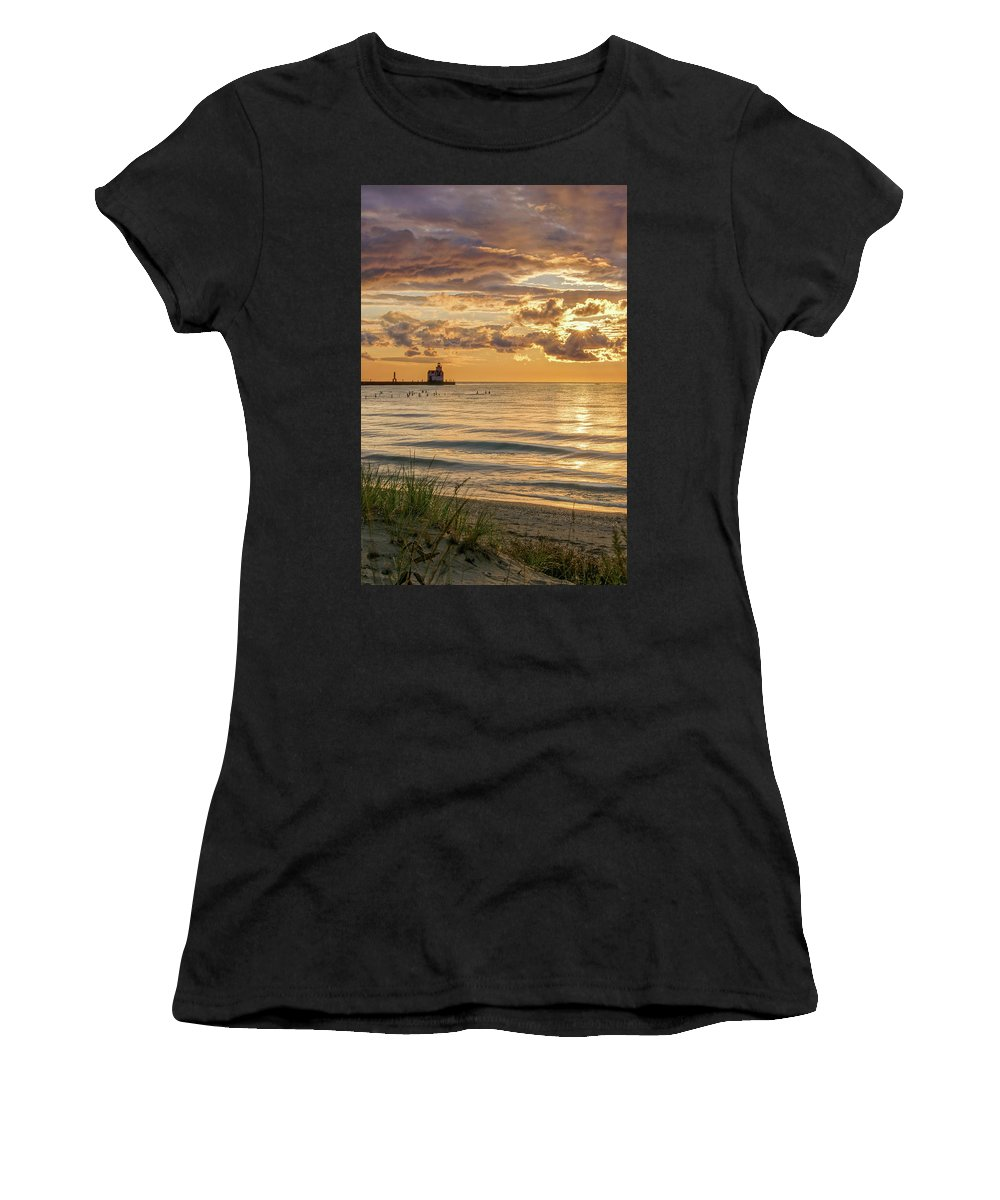 Lighthouse Women's T-Shirt (Athletic Fit) featuring the photograph Risin' And Shinin' by Bill Pevlor