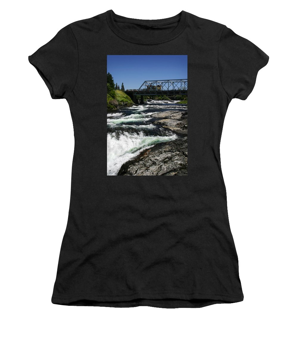 River Women's T-Shirt (Athletic Fit) featuring the photograph River Bridge by Anthony Jones