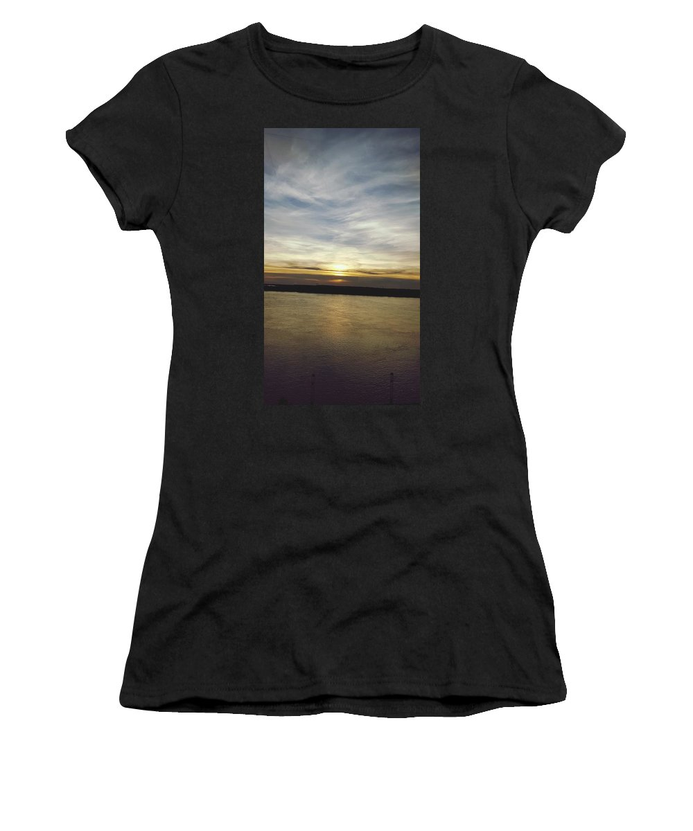 River Women's T-Shirt (Athletic Fit) featuring the digital art Riverside Delight by Keith Feltz