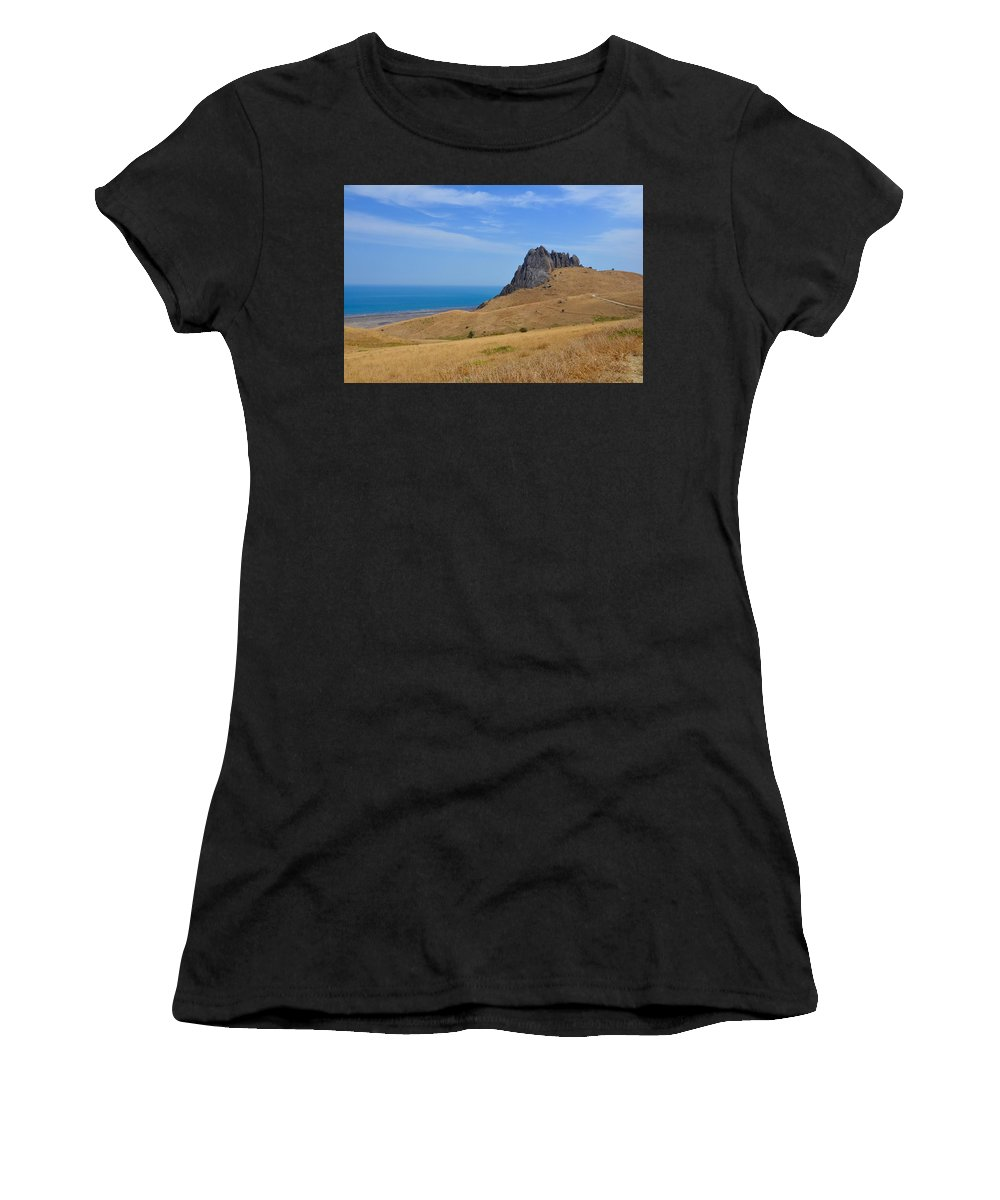 Rock Women's T-Shirt (Athletic Fit) featuring the photograph Road To Crag by Rahima Aliyeva