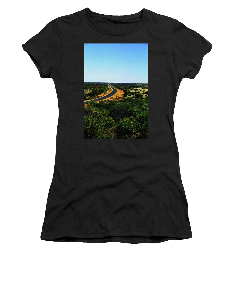 Australia Women's T-Shirt (Athletic Fit) featuring the photograph Road To Nowhere by Gary Wonning