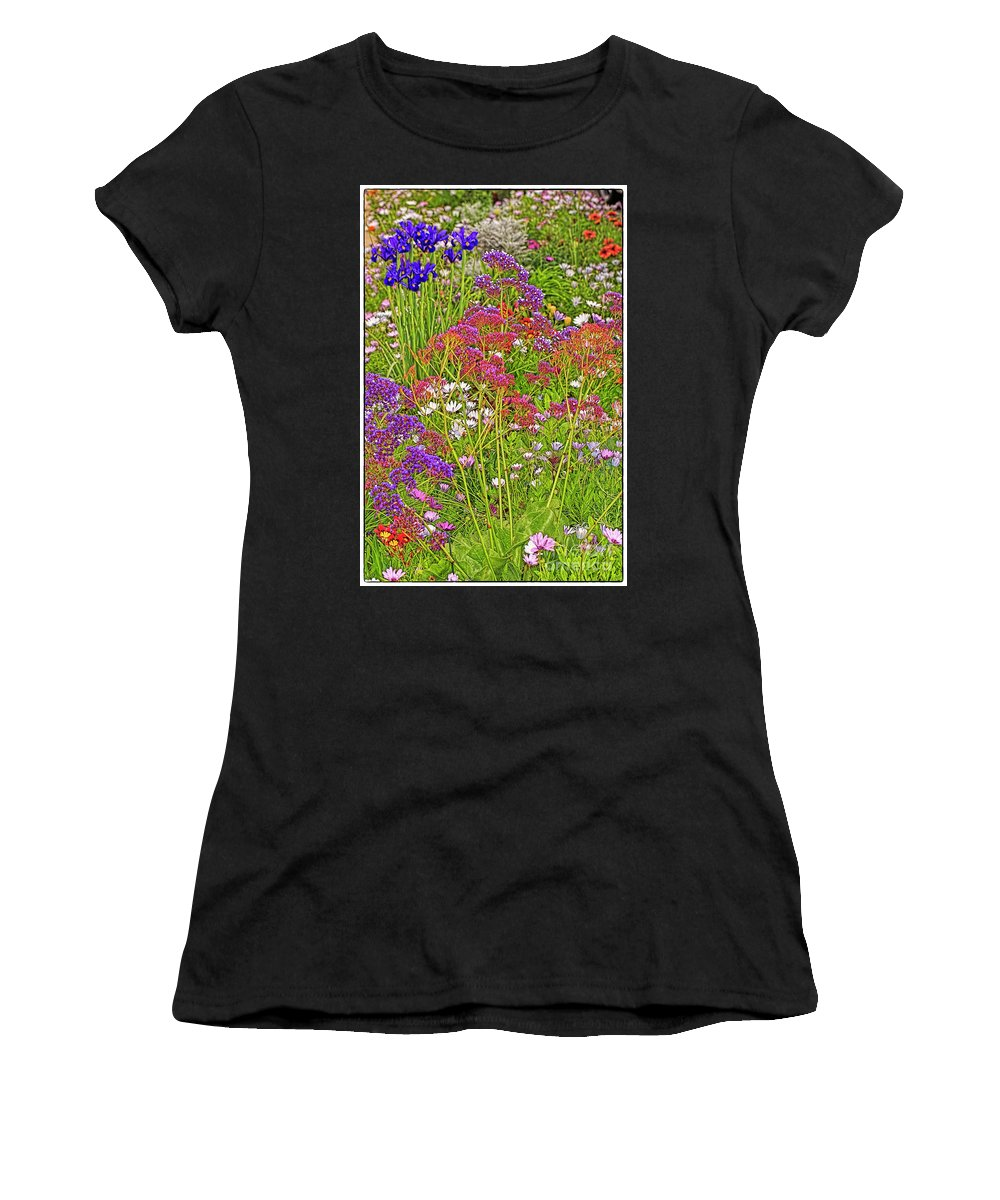 Spring Blossoms Women's T-Shirt (Athletic Fit) featuring the photograph Roadside Delight by Edita De Lima