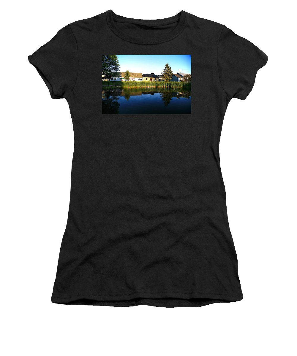 Places Women's T-Shirt (Athletic Fit) featuring the photograph Rockford Mi-4 by Robert Pearson