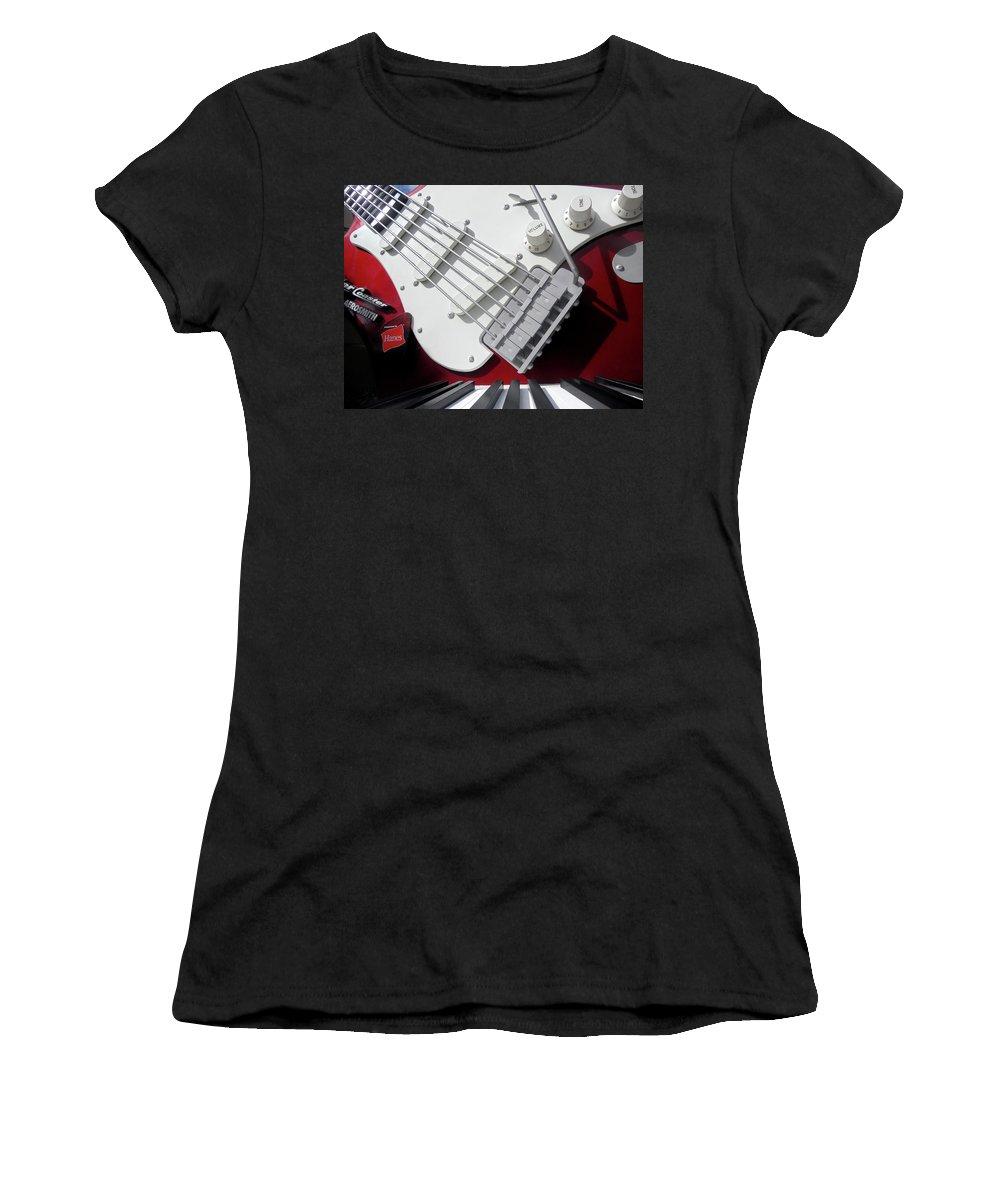 Fender Women's T-Shirt featuring the photograph Rock'n Roller Coaster Aerosmith by Juergen Weiss
