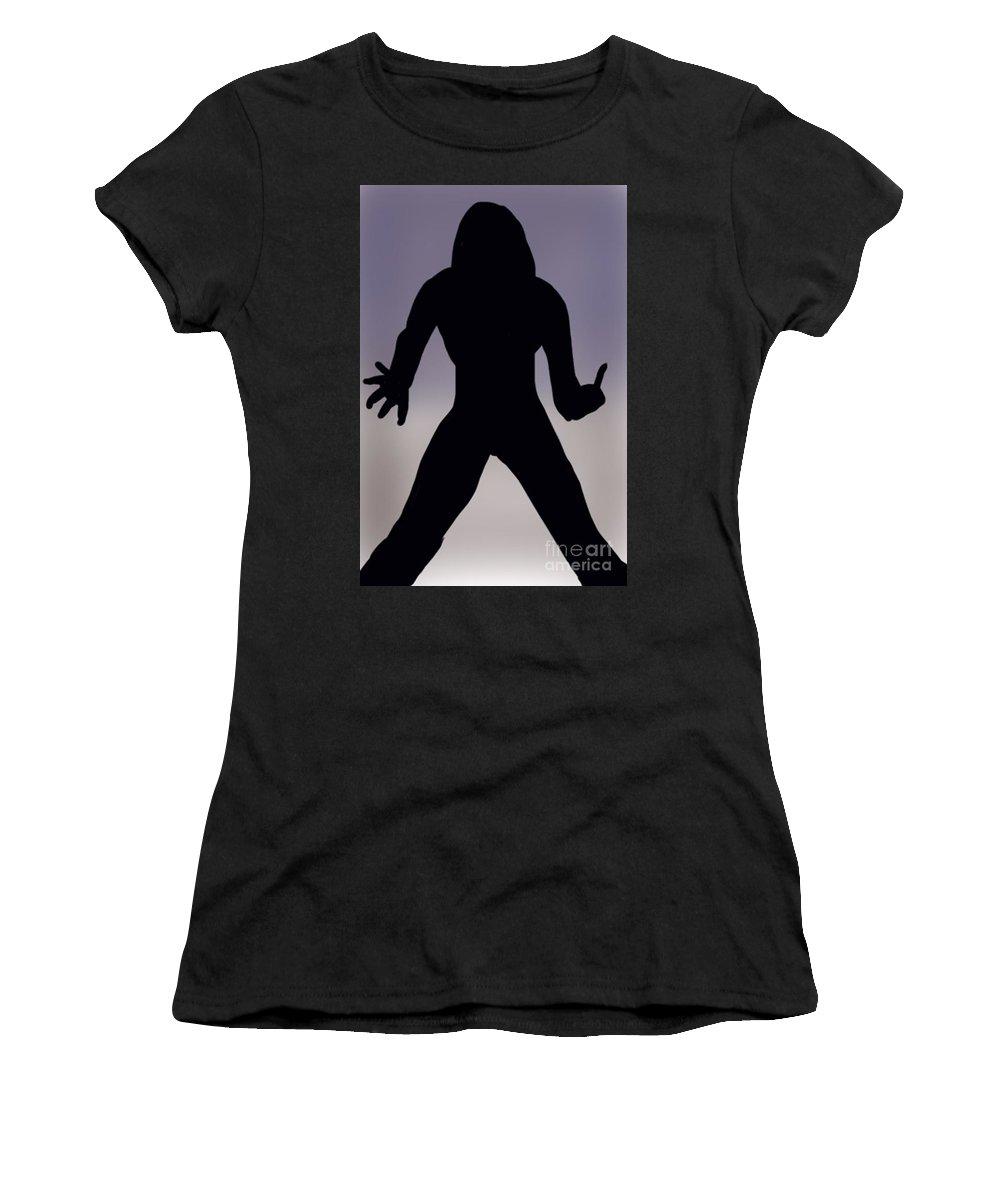 Rock Star Women's T-Shirt featuring the digital art Rockstar by Chris Dippel