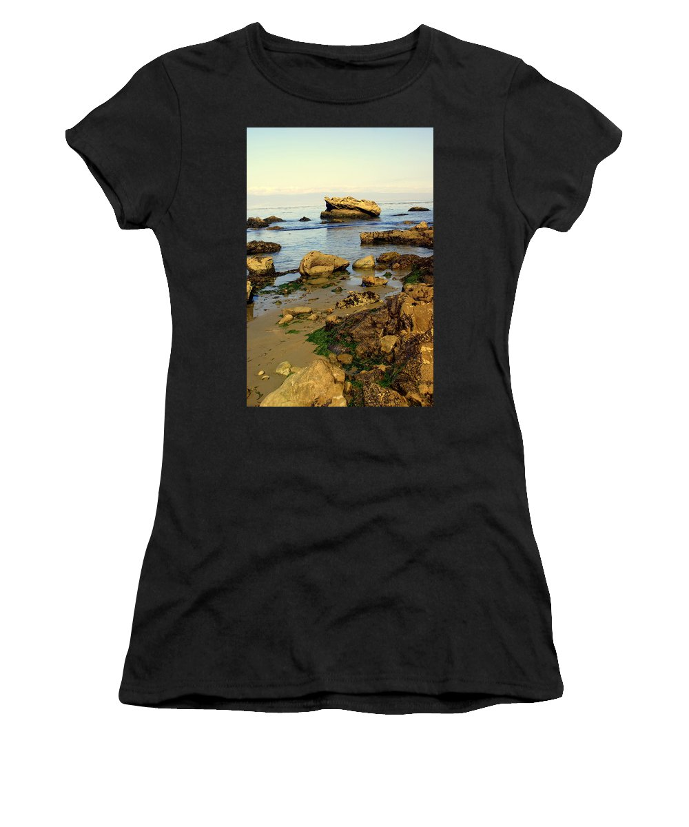 Beach Women's T-Shirt (Athletic Fit) featuring the photograph Rocky Beach by Marty Koch