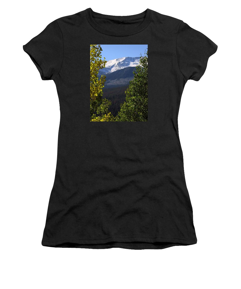 Rockies Women's T-Shirt (Athletic Fit) featuring the photograph Rocky Mountains Mtn M 207 by Sierra Dall