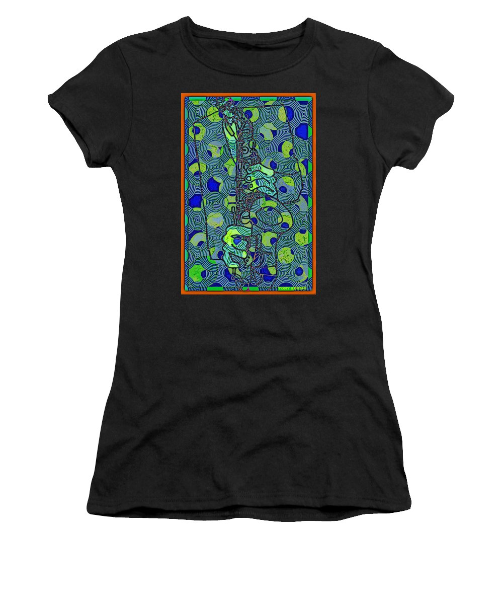 Rollin' In The Vibe Women's T-Shirt (Athletic Fit) featuring the digital art Rollin' In The Vibe by Tony Adamo