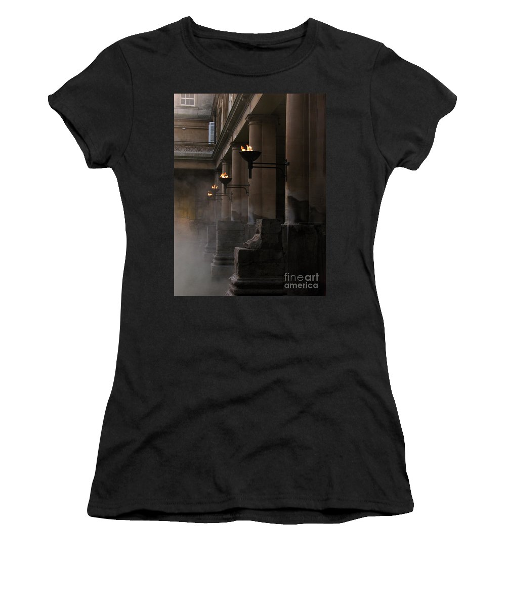 Bath Women's T-Shirt (Athletic Fit) featuring the photograph Roman Baths by Amanda Barcon