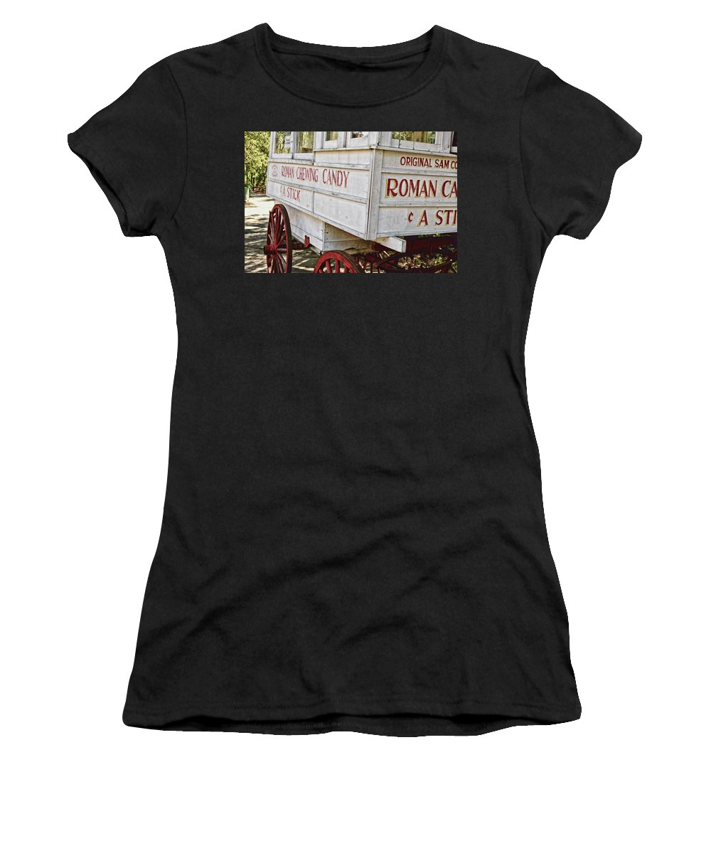 New Orleans Women's T-Shirt (Athletic Fit) featuring the photograph Roman Chewing Candy - Surreal by Scott Pellegrin