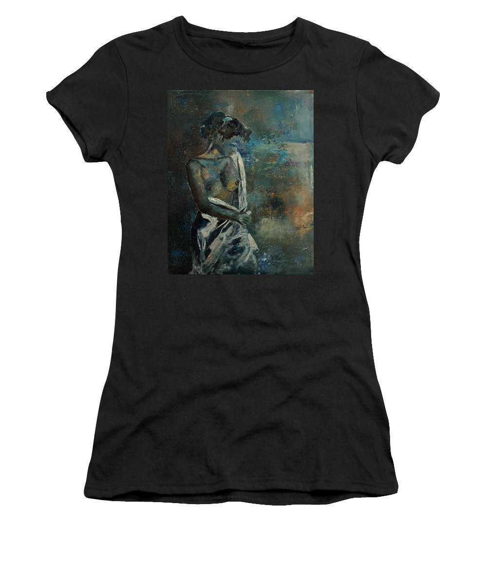 Nude Women's T-Shirt featuring the painting Roman Nude 45 by Pol Ledent