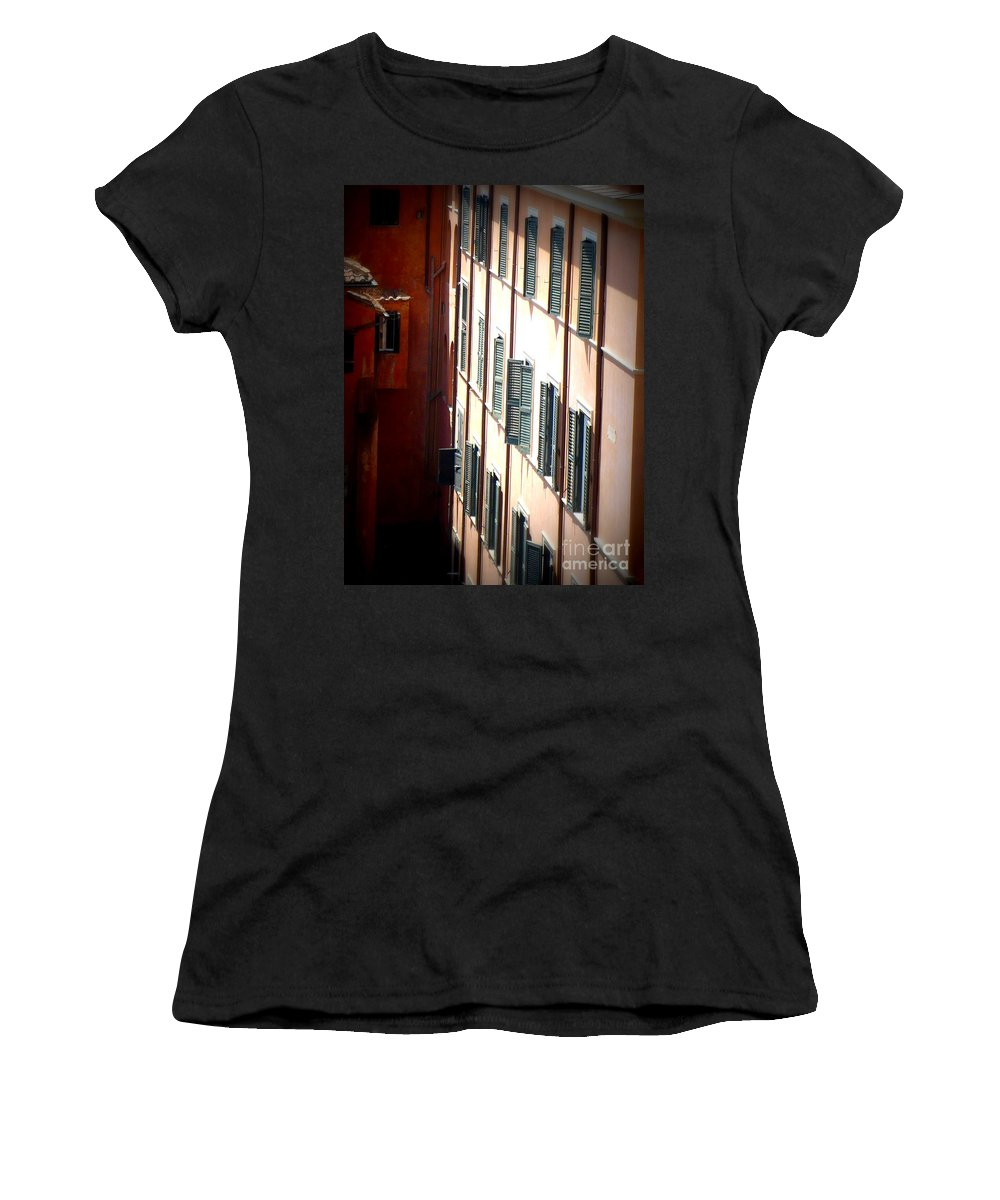 Rome Women's T-Shirt (Athletic Fit) featuring the photograph Roman Windows by Carol Groenen