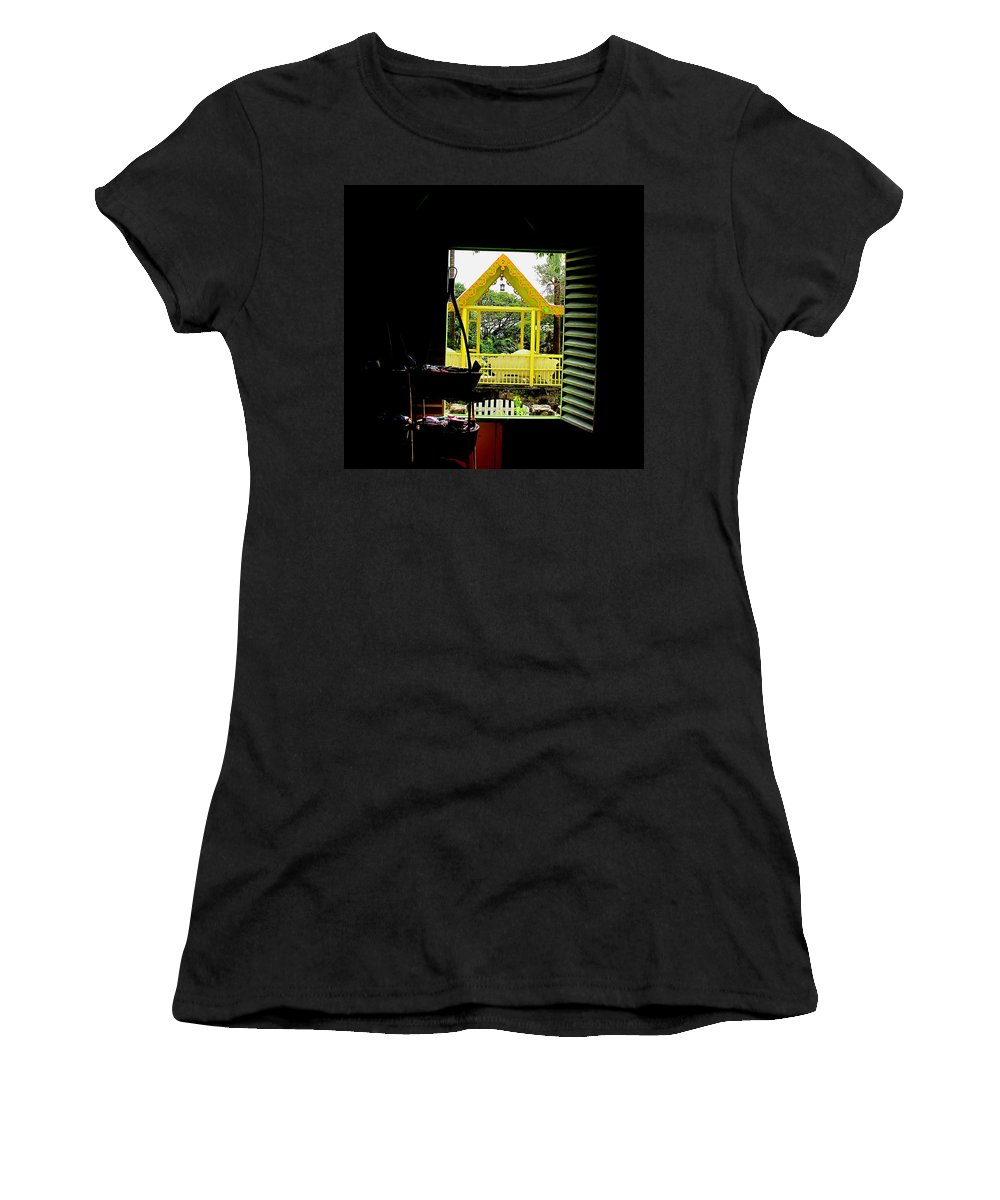 Romney Women's T-Shirt (Athletic Fit) featuring the photograph Romney Manor by Ian MacDonald