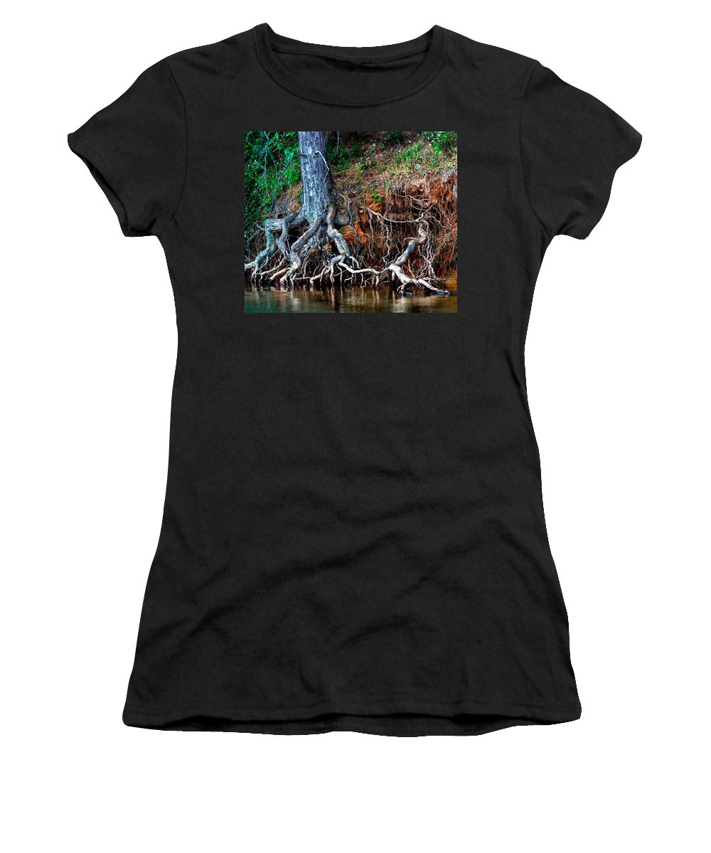 California Nature Women's T-Shirt featuring the photograph Rooting Section by Norman Andrus