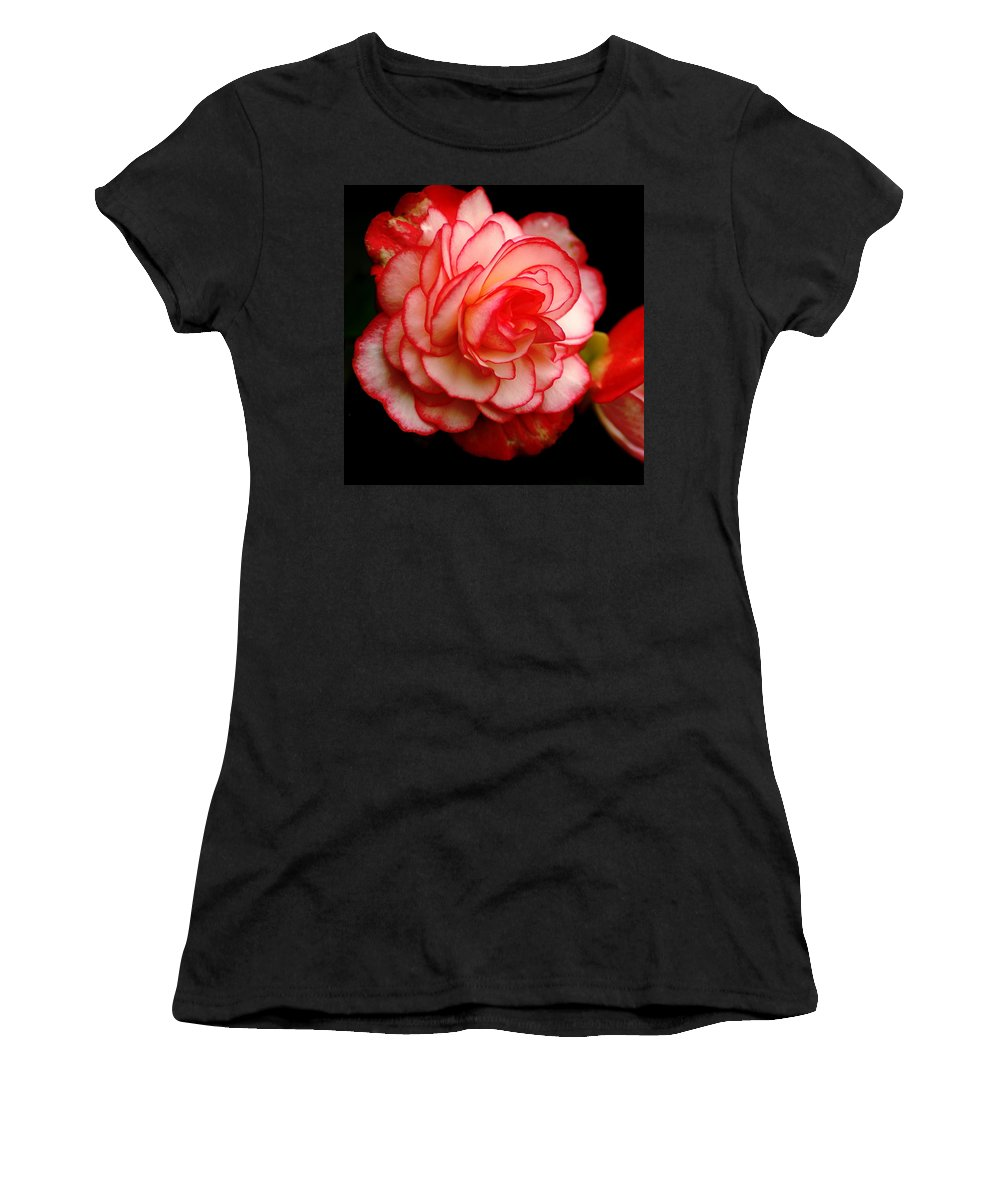 Flowers Women's T-Shirt featuring the photograph Rose by Ben Upham III