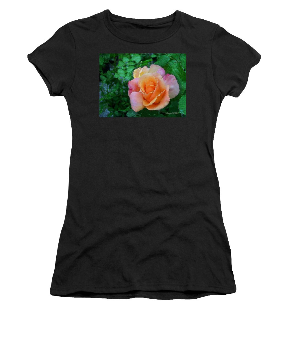 Rose Women's T-Shirt featuring the photograph Rose by Bonnie Willis