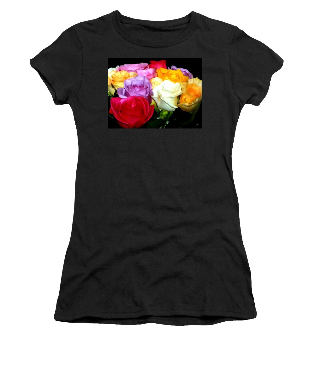 Roses Women's T-Shirt featuring the digital art Rose Bouquet Painting by Will Borden