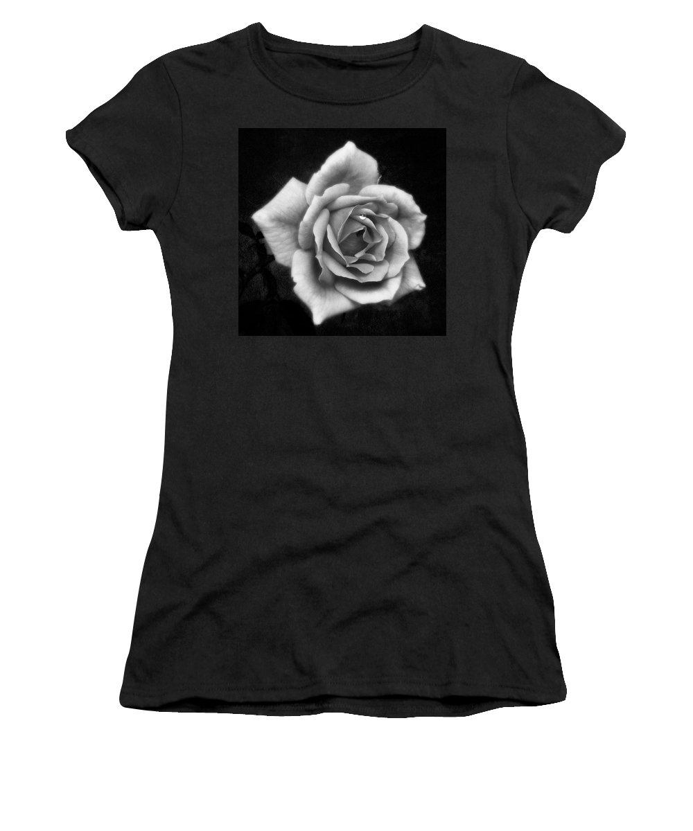 Beautiful Women's T-Shirt featuring the photograph Rose In Mono. #flower #flowers by John Edwards