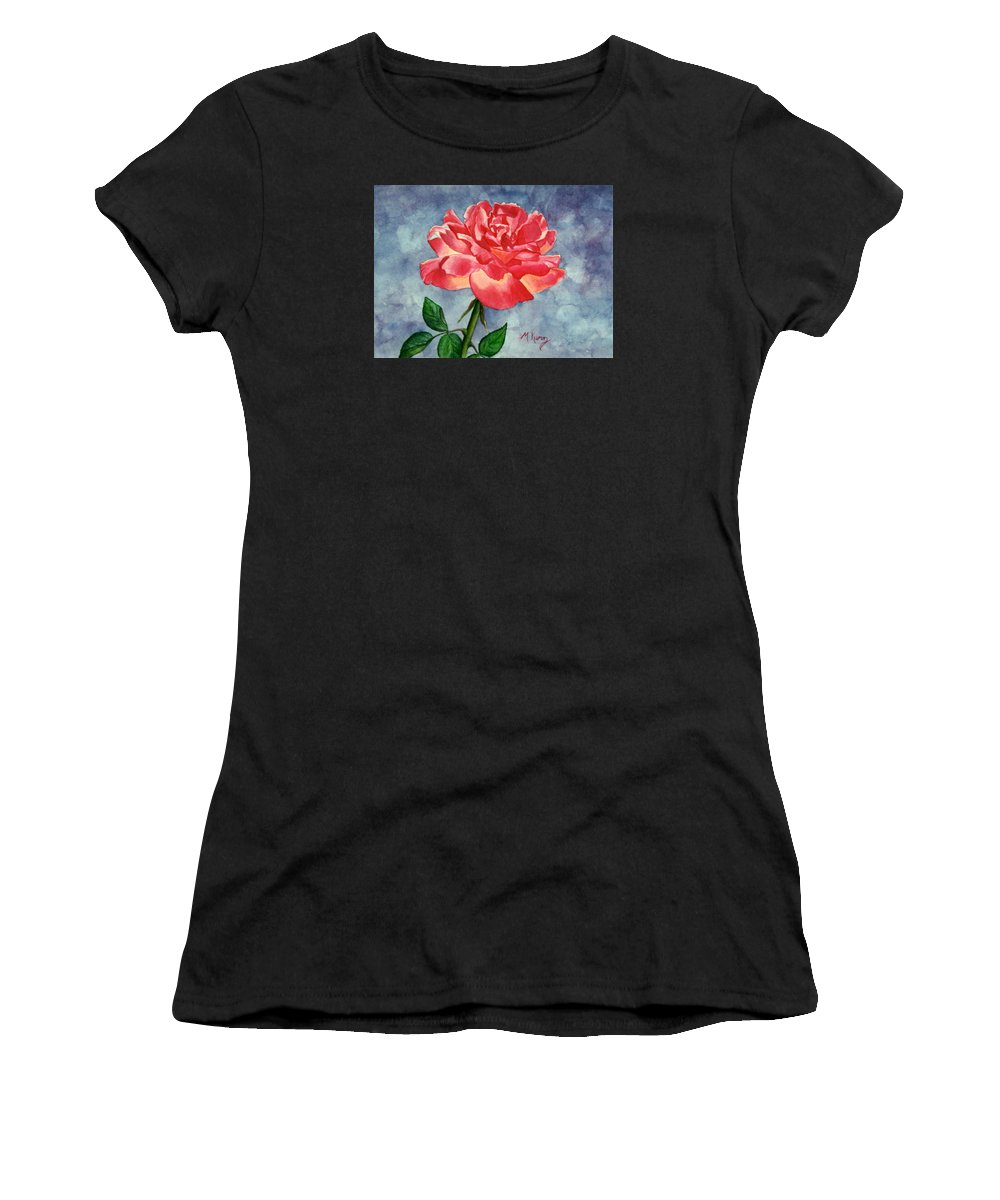 Rose Women's T-Shirt (Athletic Fit) featuring the painting Rose by Melissa Joyfully