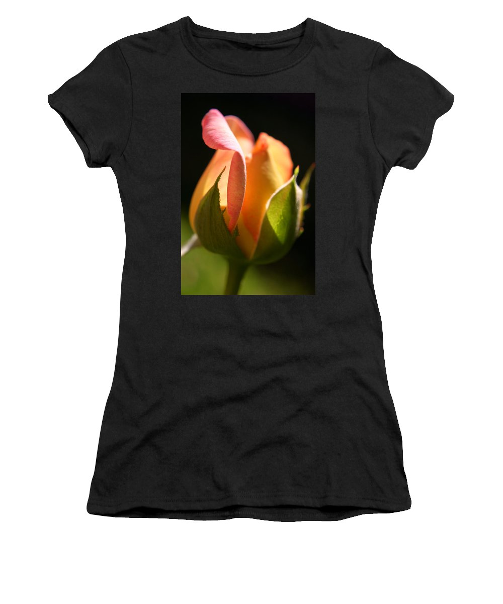 Rosebud Women's T-Shirt (Athletic Fit) featuring the photograph Rosebud by Ralph A Ledergerber-Photography