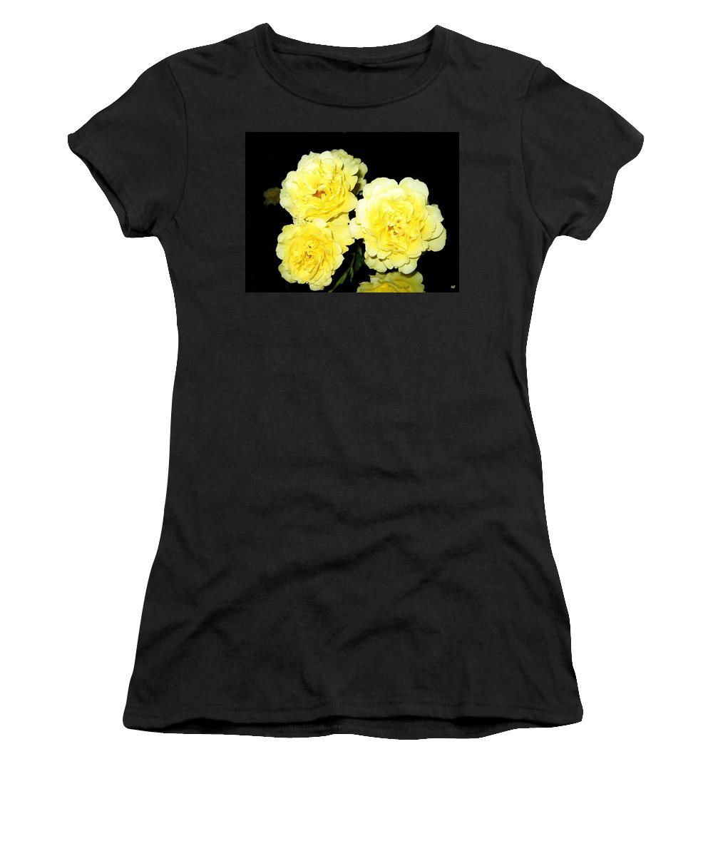 Roses Women's T-Shirt (Athletic Fit) featuring the photograph Roses 11 by Will Borden