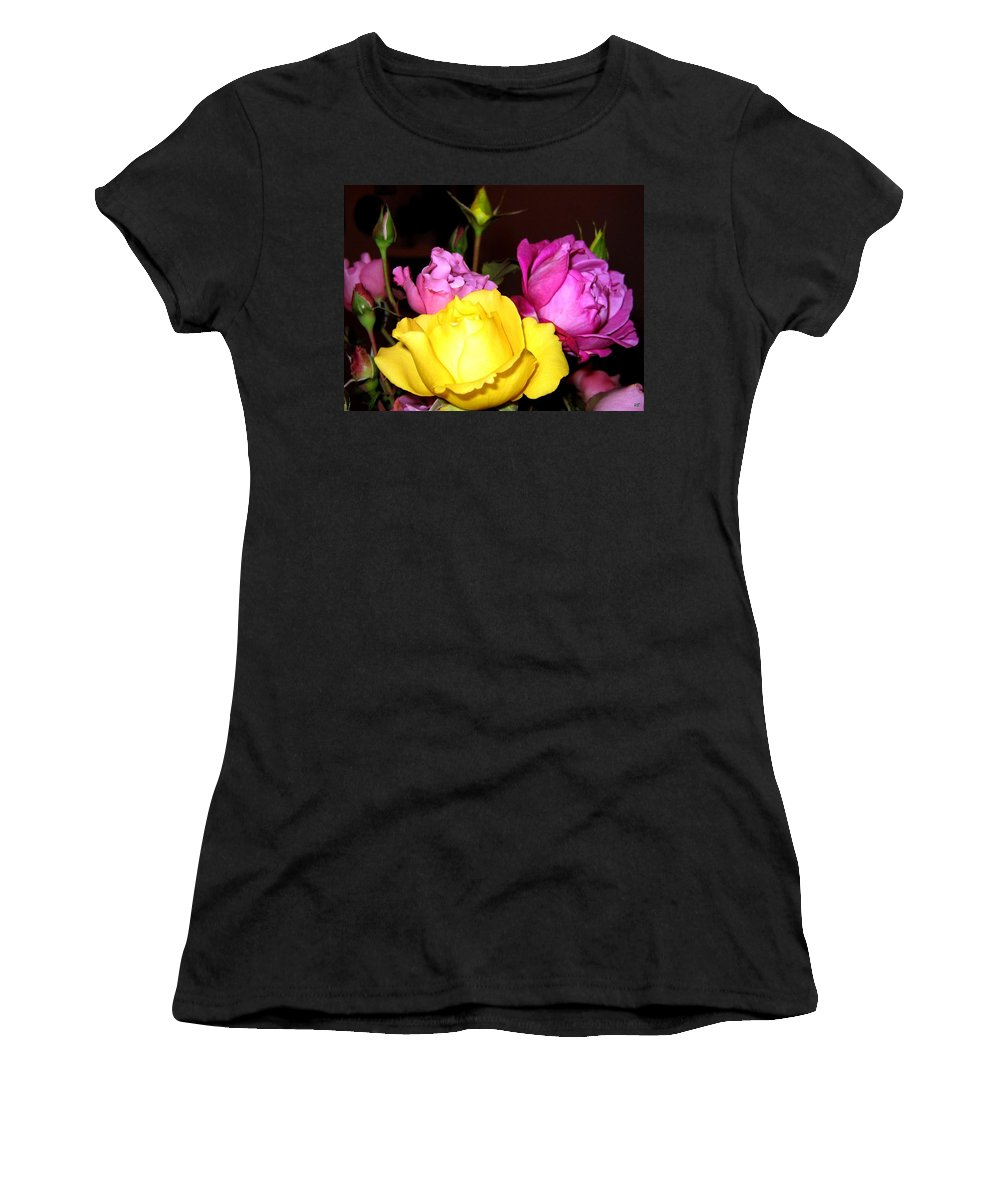 Roses Women's T-Shirt featuring the photograph Roses 4 by Will Borden