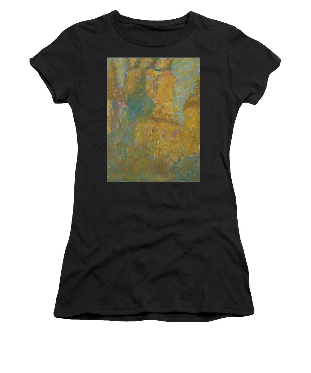 Rostov Women's T-Shirt (Athletic Fit) featuring the painting Rostov by Robert Nizamov