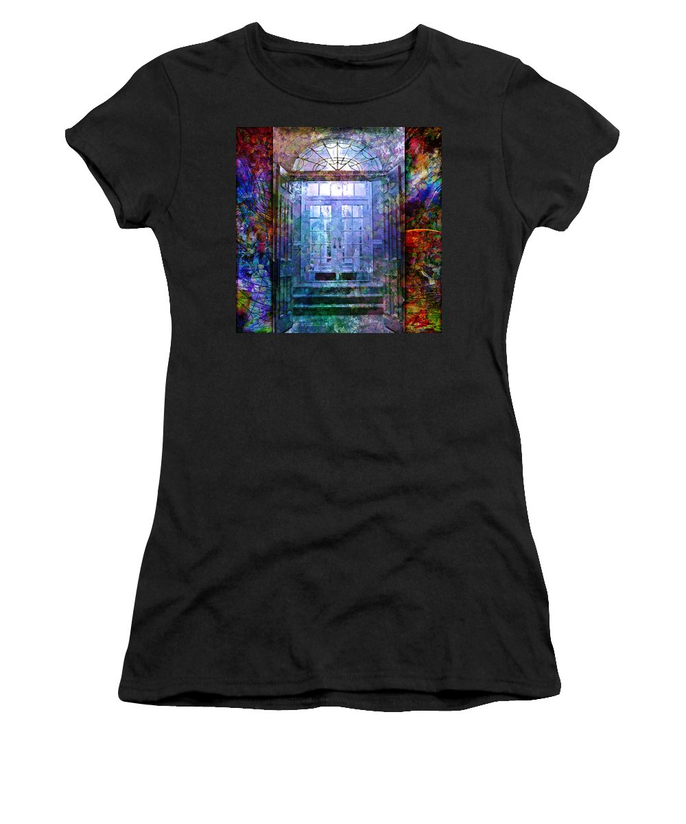 Arch Women's T-Shirt (Athletic Fit) featuring the digital art Rounded Doors by Barbara Berney