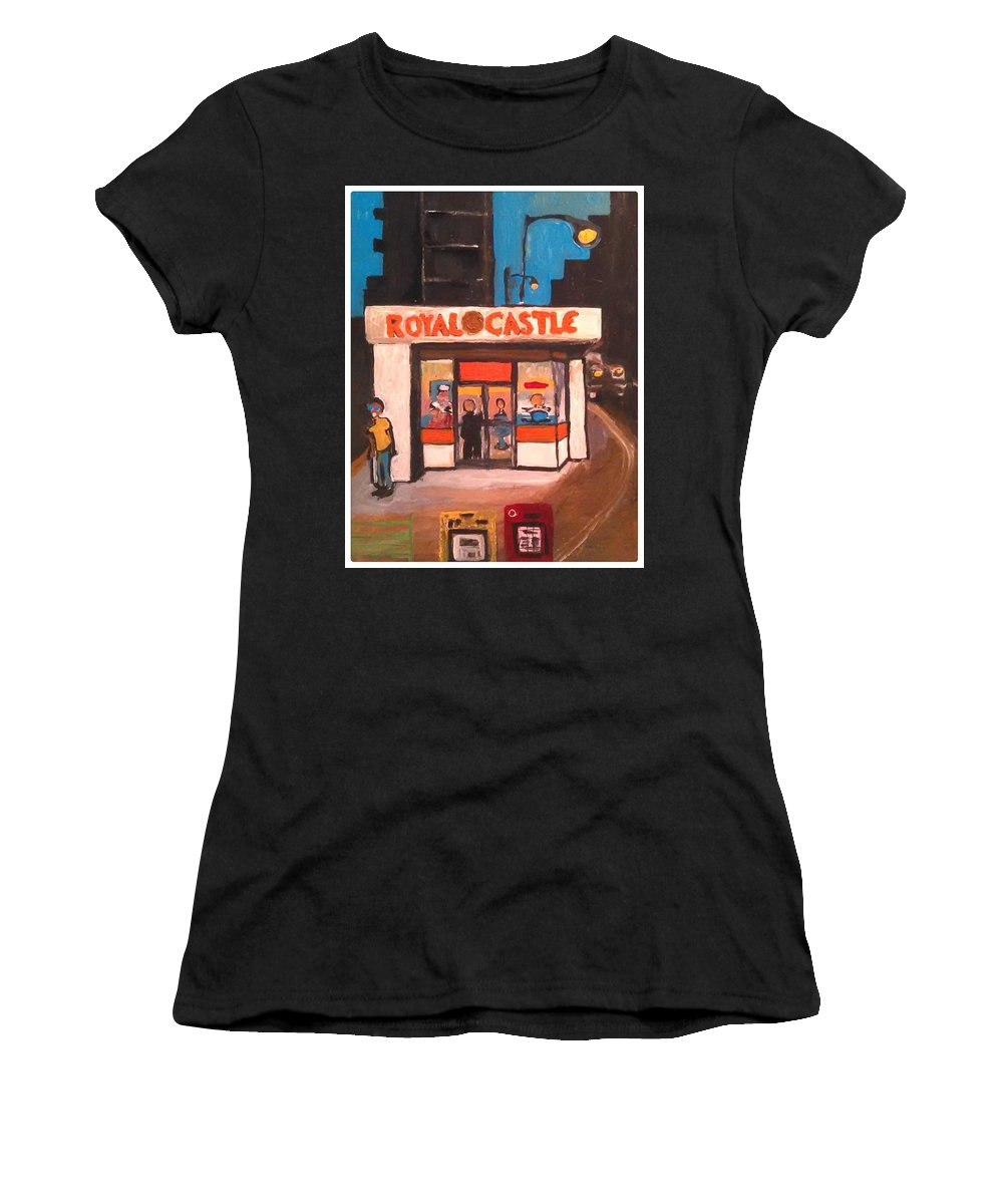 Art Women's T-Shirt (Athletic Fit) featuring the painting Royal Castle by Gregory McLaughlin
