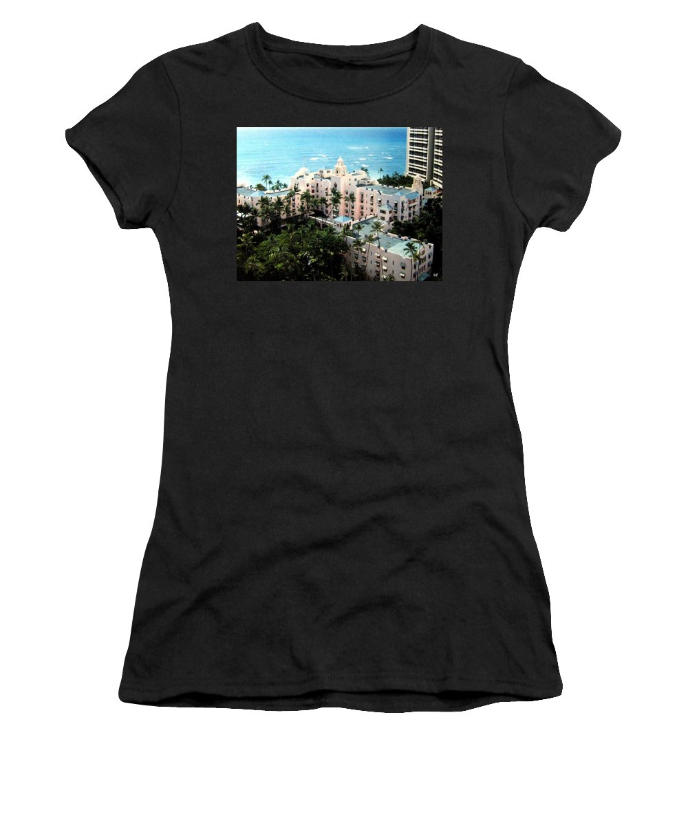 1986 Women's T-Shirt (Athletic Fit) featuring the photograph Royal Hawaiian Hotel by Will Borden