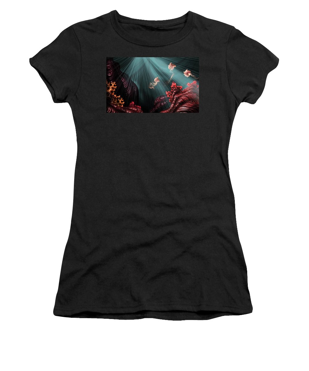 Women's T-Shirt (Athletic Fit) featuring the mixed media Rubies by Steven Marcus