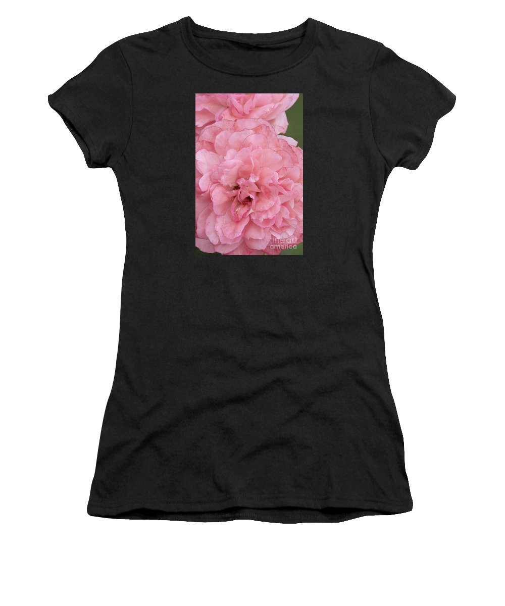Rose Women's T-Shirt featuring the photograph Ruffled Pink Rose by Regina Geoghan