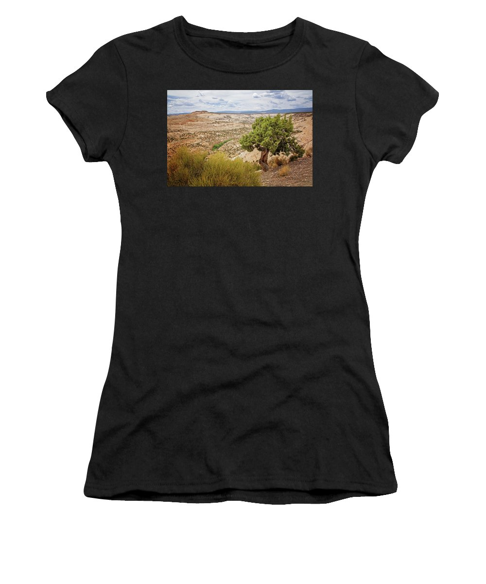 Rugged West Women's T-Shirt (Athletic Fit) featuring the photograph Rugged West by Susan McMenamin
