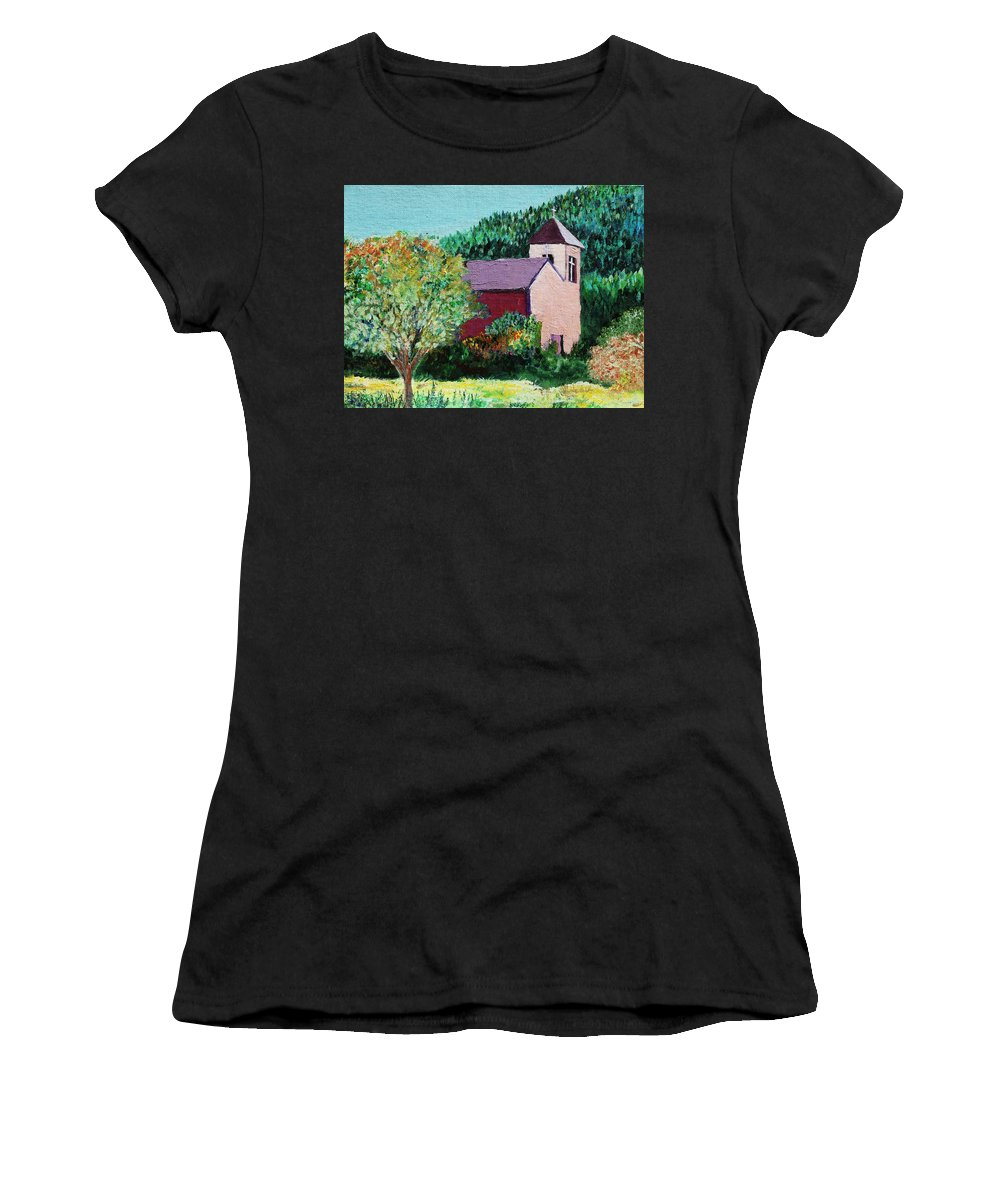 Church Women's T-Shirt (Athletic Fit) featuring the painting Ruidoso by Melinda Etzold