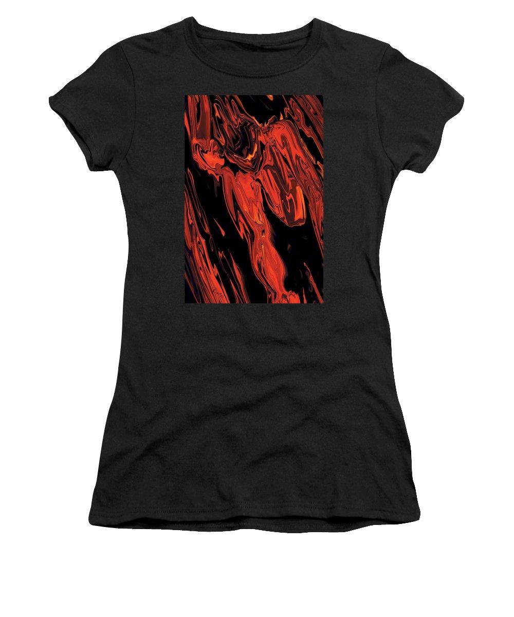 Figurative Women's T-Shirt (Athletic Fit) featuring the digital art Run by Rabi Khan