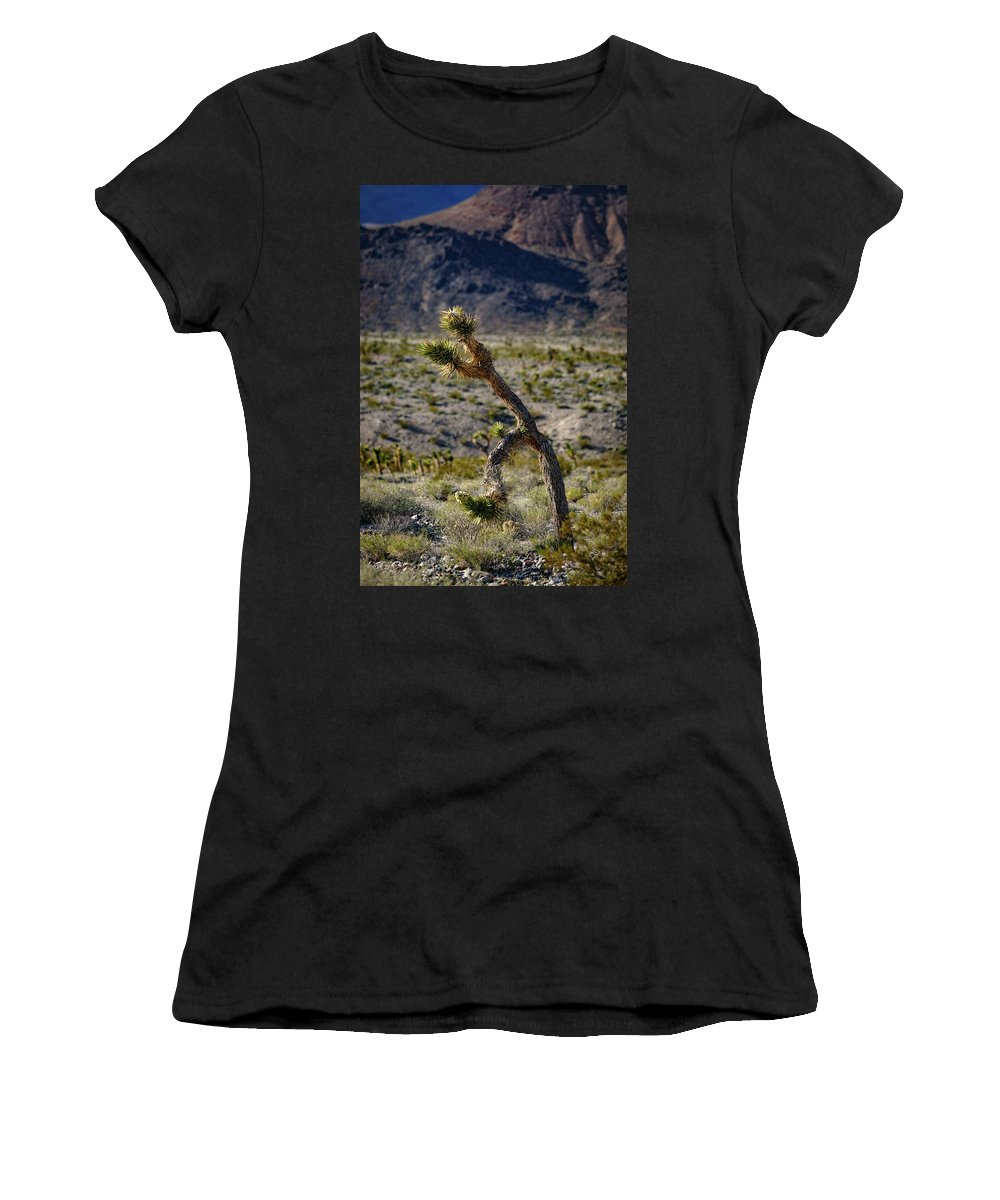 A Women's T-Shirt (Athletic Fit) featuring the photograph Running Man, Death Valley by Mike Penney